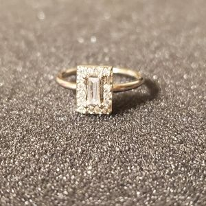 Delicate Sterling silver 925 cz ring size 5